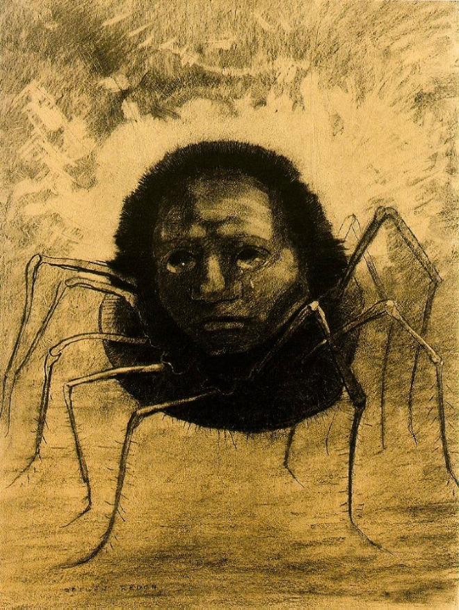 Redon_crying-spider
