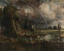 Fig 29. Salisbury Cathedral from the Meadows (1830)