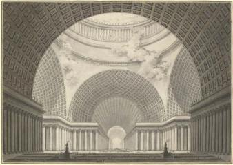 Fig 3. Perspective View of the Interior of a Metropolitan Church (1780-81)