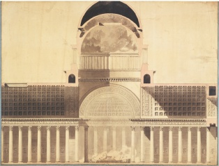 Fig 4. Architectural Project for the Church of the Madeleine (1777-85)